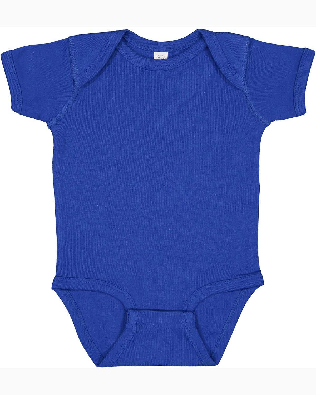 Rabbit Skins Infant Baby Rib Bodysuit ROYAL