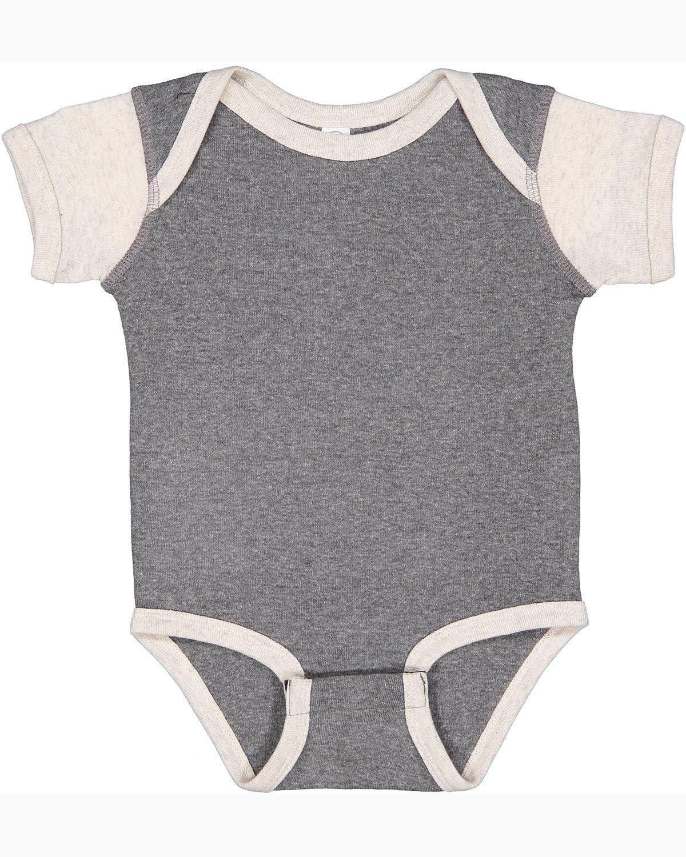 Rabbit Skins Infant Baby Rib Bodysuit GRNT HTH/ NAT HT