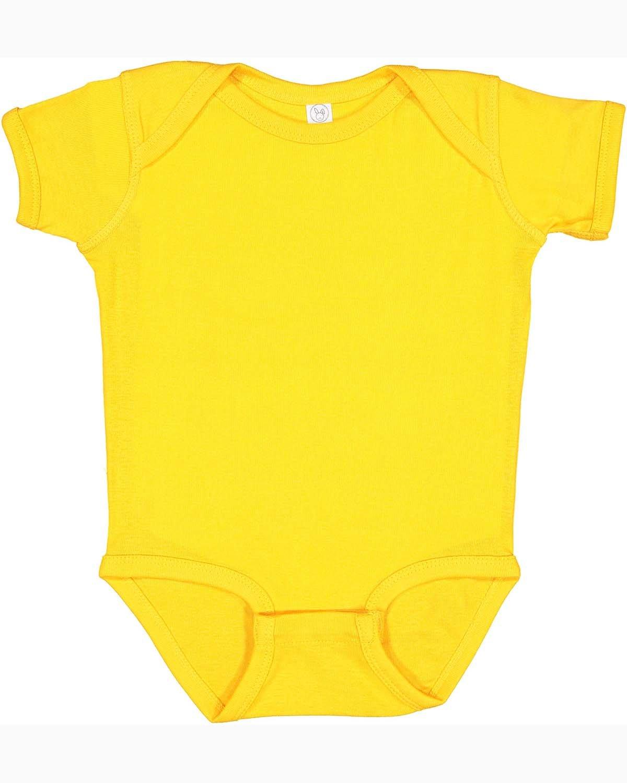 Rabbit Skins Infant Baby Rib Bodysuit GOLD