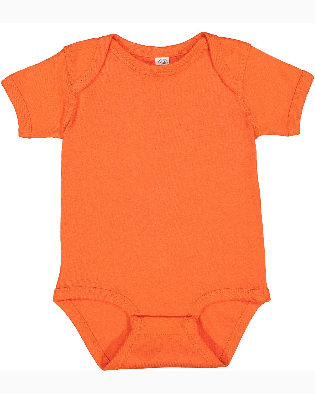 Rabbit Skins Infant Baby Rib Bodysuit ORANGE
