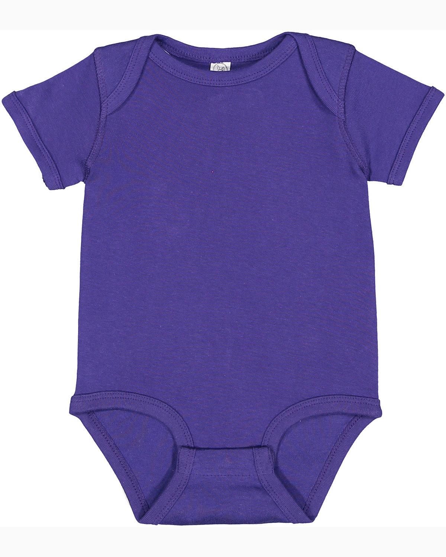 Rabbit Skins Infant Baby Rib Bodysuit PURPLE