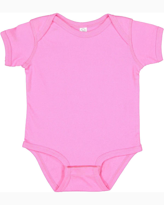 Rabbit Skins Infant Baby Rib Bodysuit RASPBERRY