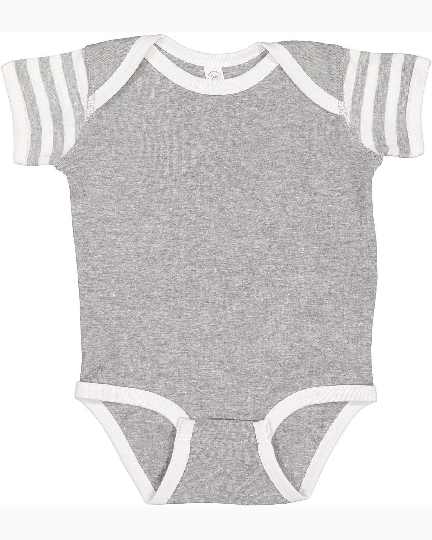 Rabbit Skins Infant Baby Rib Bodysuit HT/ WH/ HT WH ST