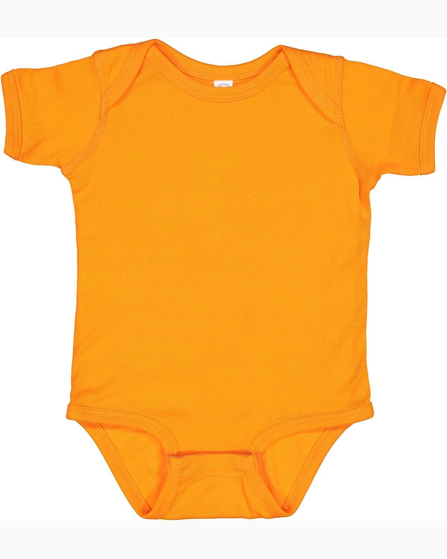 Rabbit Skins Infant Baby Rib Bodysuit MANDARIN ORANGE