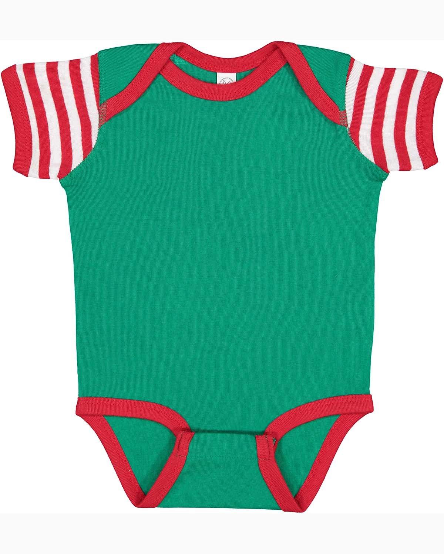 Rabbit Skins Infant Baby Rib Bodysuit KL/ RD/ RD WH ST