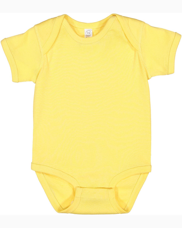 Rabbit Skins Infant Baby Rib Bodysuit BUTTER