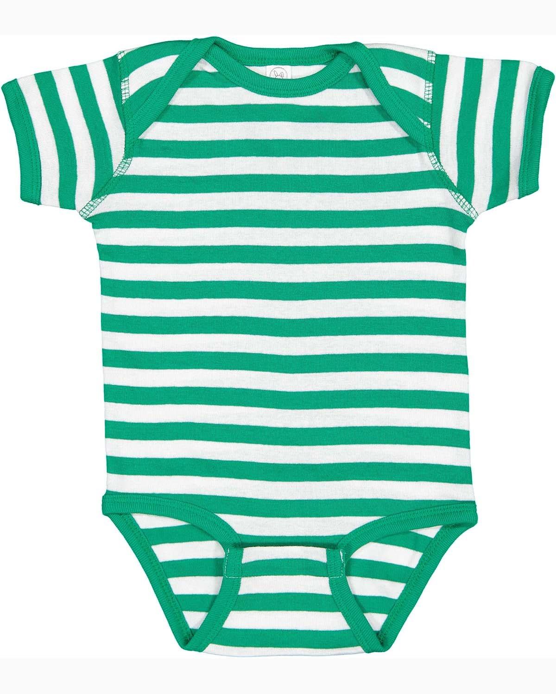 Rabbit Skins Infant Baby Rib Bodysuit KELLY/ WHITE STR