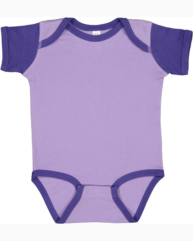 Rabbit Skins Infant Baby Rib Bodysuit LAVENDER/ PURPLE