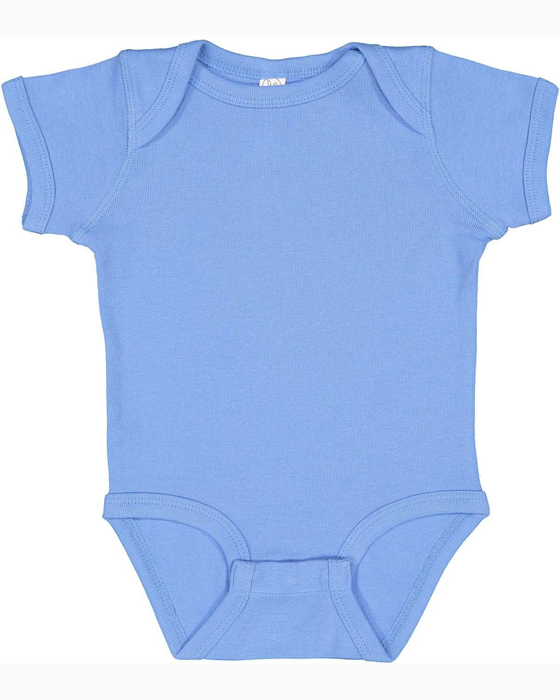 Rabbit Skins Infant Baby Rib Bodysuit CAROLINA BLUE