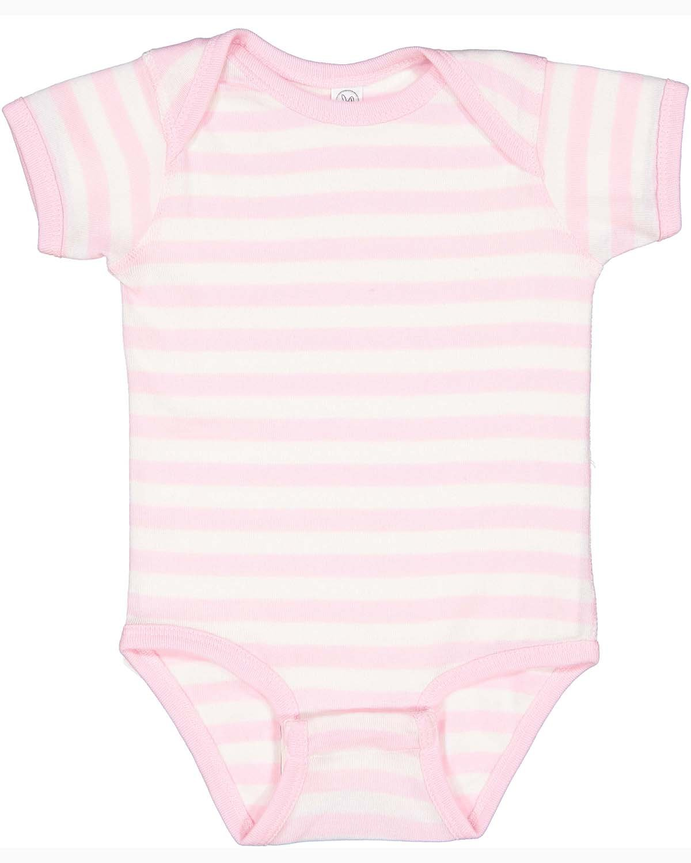 Rabbit Skins Infant Baby Rib Bodysuit BALLERINA/ WH ST