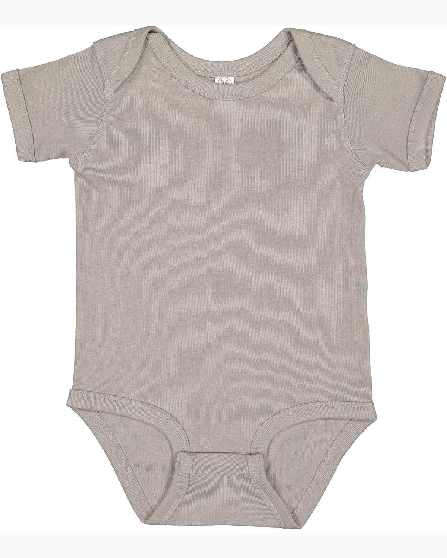 Rabbit Skins Infant Baby Rib Bodysuit TITANIUM