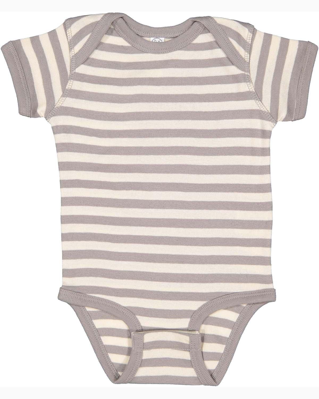 Rabbit Skins Infant Baby Rib Bodysuit TITANIUM/ NAT ST
