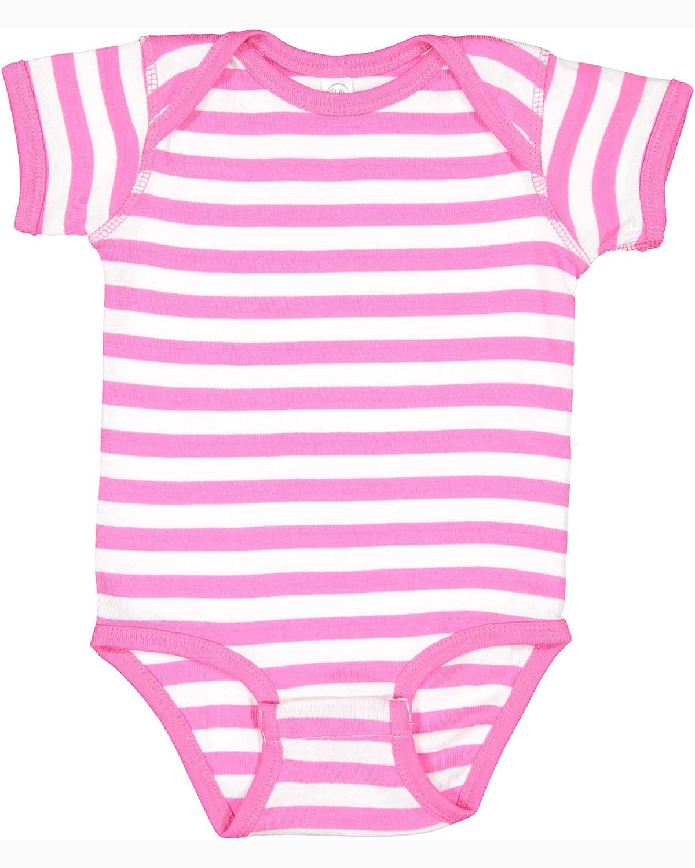 Rabbit Skins Infant Baby Rib Bodysuit RSPBRRY/ WH STRP