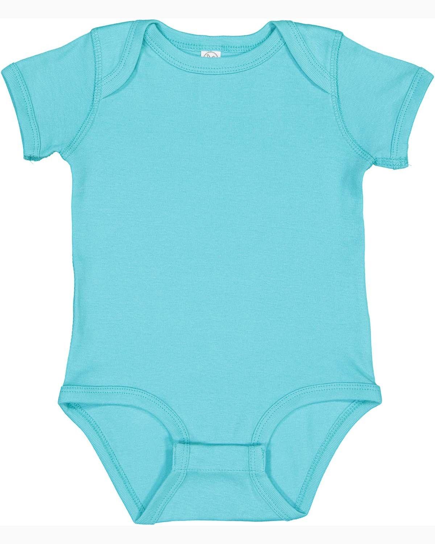 Rabbit Skins Infant Baby Rib Bodysuit CARIBBEAN