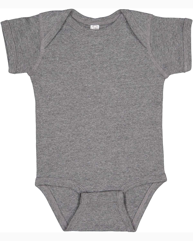 Rabbit Skins Infant Baby Rib Bodysuit GRANITE HEATHER