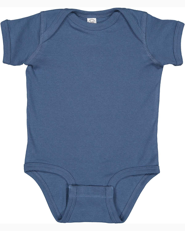 Rabbit Skins Infant Baby Rib Bodysuit INDIGO