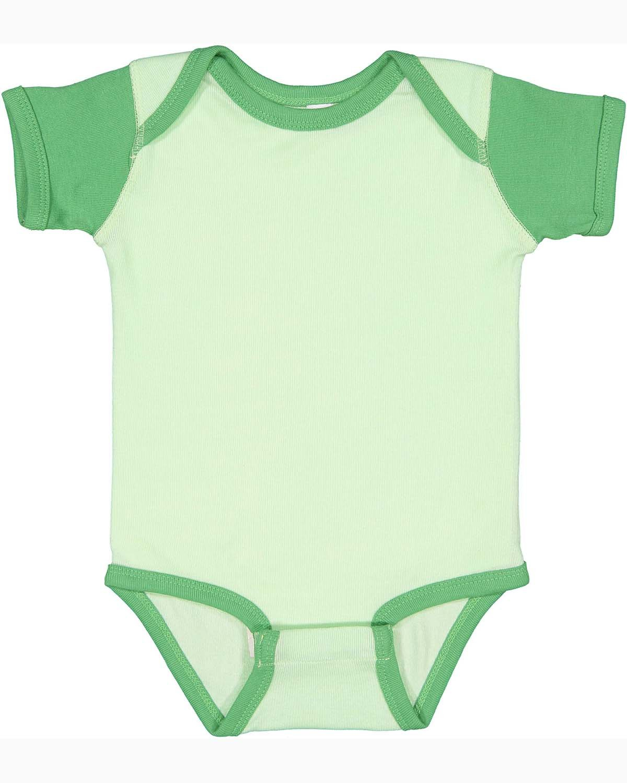 Rabbit Skins Infant Baby Rib Bodysuit MINT/ GRASS