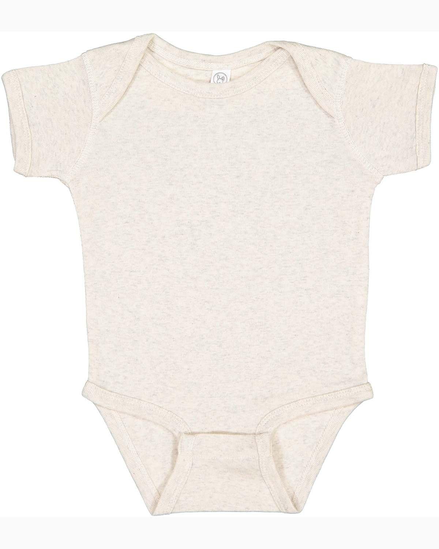Rabbit Skins Infant Baby Rib Bodysuit NATURAL HEATHER
