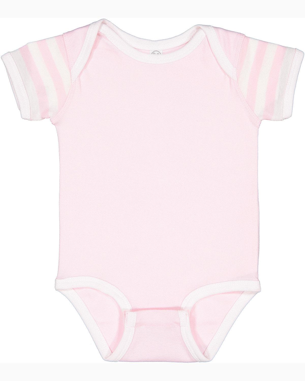 Rabbit Skins Infant Baby Rib Bodysuit BLRNA/ WH/ W STR