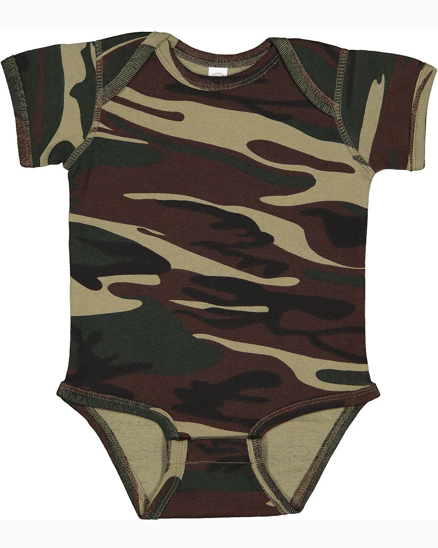 Code Five Infant Camo Bodysuit GREEN WOODLAND