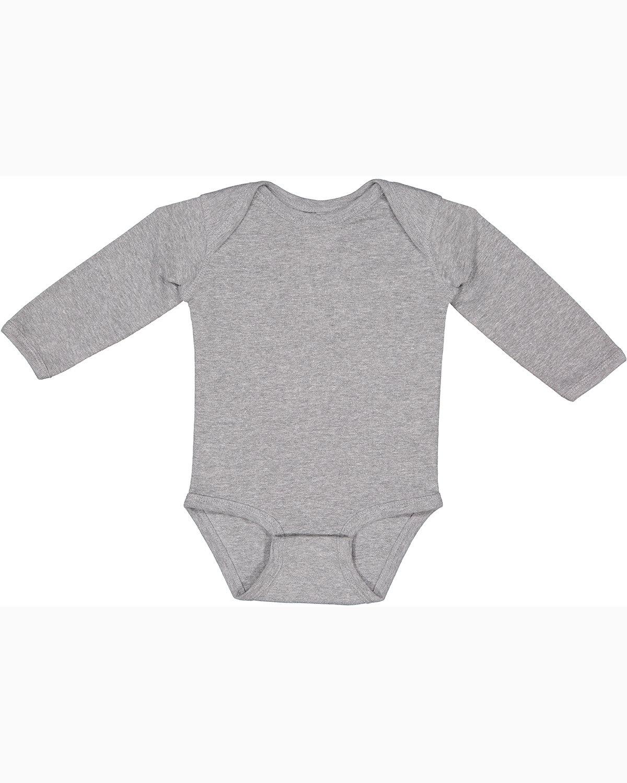 Rabbit Skins Infant Long-Sleeve Baby Rib Bodysuit HEATHER