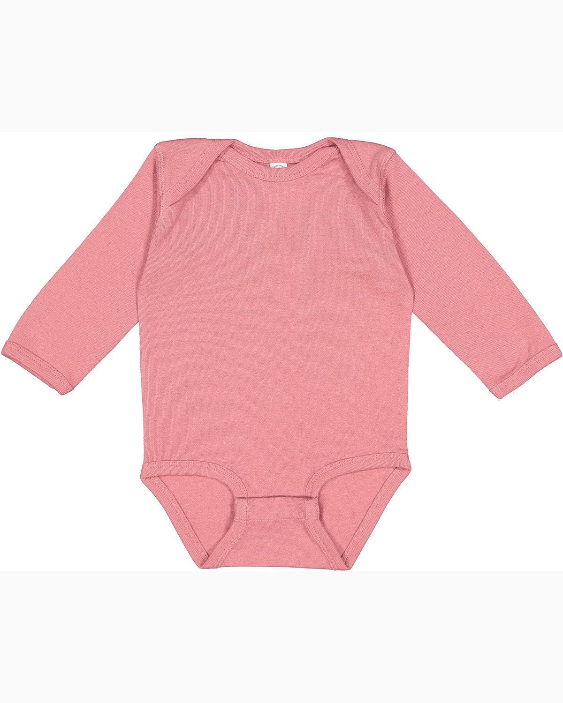 Rabbit Skins Infant Long-Sleeve Baby Rib Bodysuit MAUVELOUS