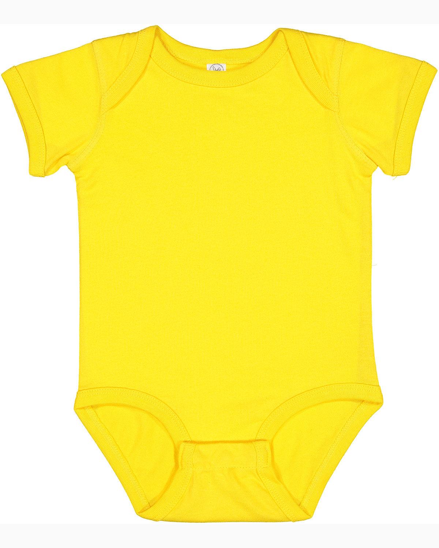 Rabbit Skins Infant Fine Jersey Bodysuit YELLOW