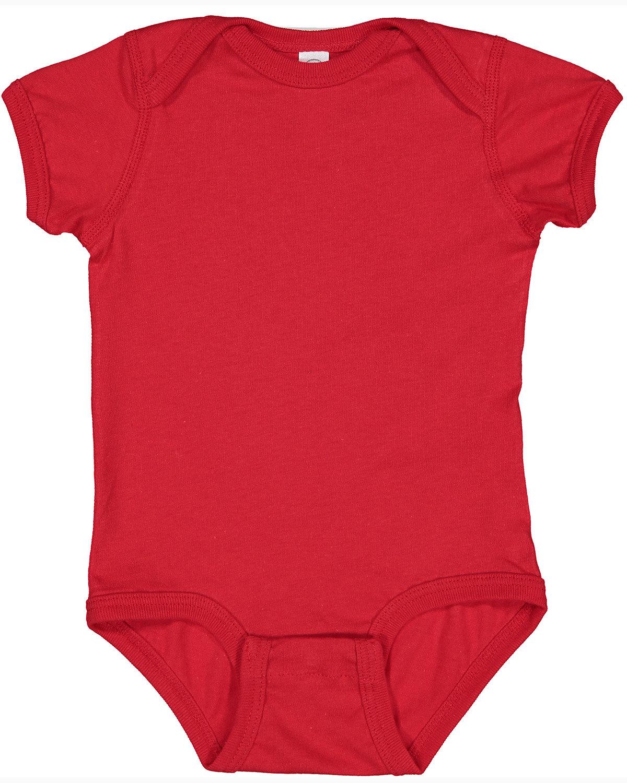 Rabbit Skins Infant Fine Jersey Bodysuit RED