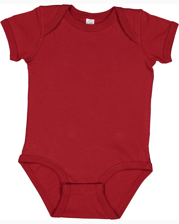 Rabbit Skins Infant Fine Jersey Bodysuit GARNET