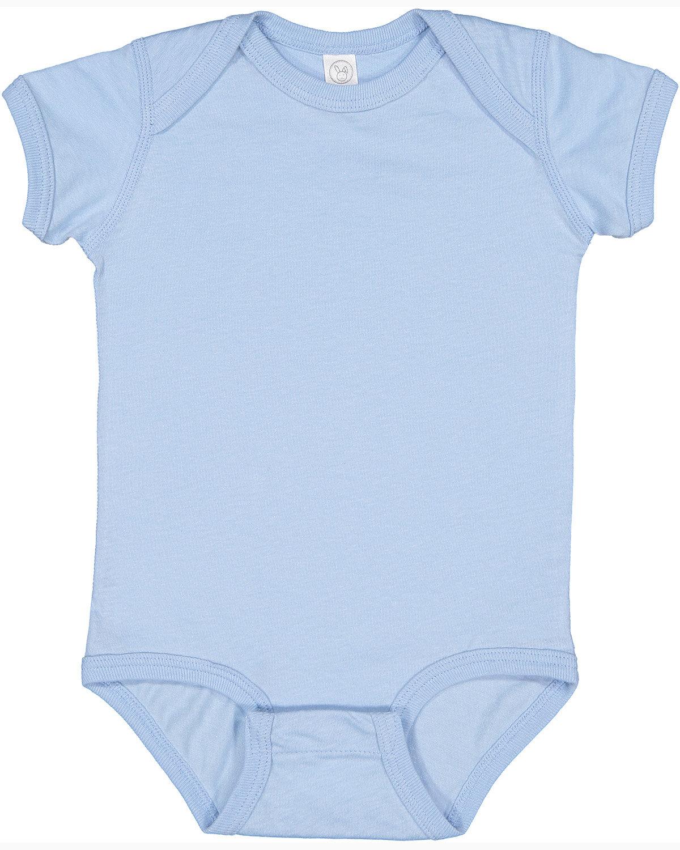 Rabbit Skins Infant Fine Jersey Bodysuit LIGHT BLUE