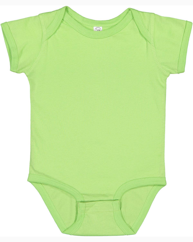 Rabbit Skins Infant Fine Jersey Bodysuit KEY LIME