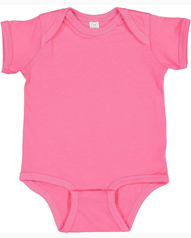 Rabbit Skins Infant Fine Jersey Bodysuit HOT PINK
