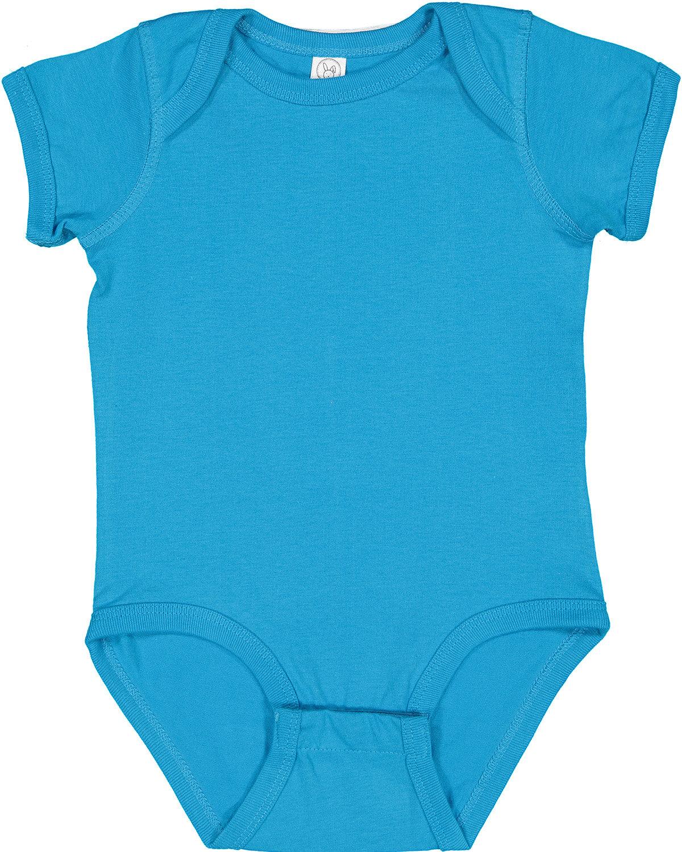 Rabbit Skins Infant Fine Jersey Bodysuit TURQUOISE
