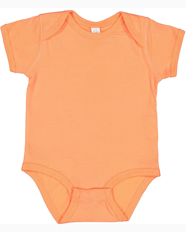 Rabbit Skins Infant Fine Jersey Bodysuit PAPAYA