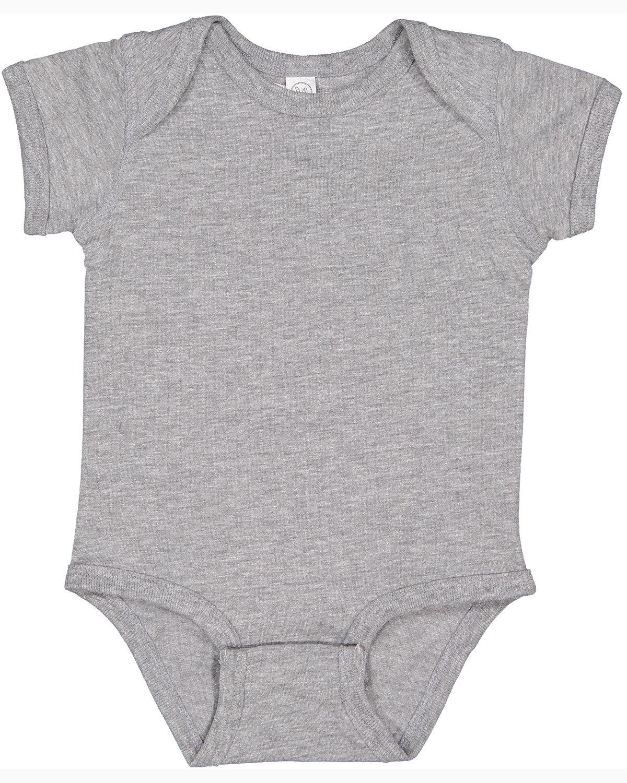 Rabbit Skins Infant Fine Jersey Bodysuit HEATHER