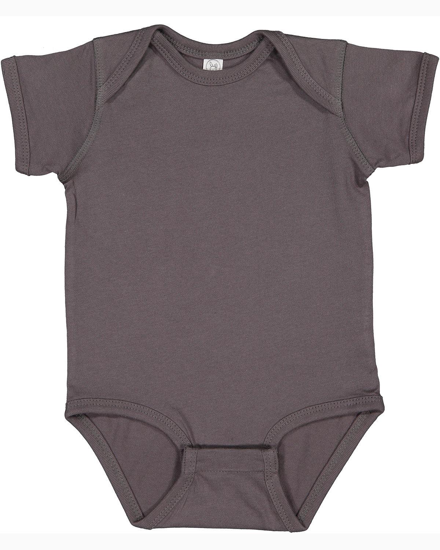Rabbit Skins Infant Fine Jersey Bodysuit CHARCOAL