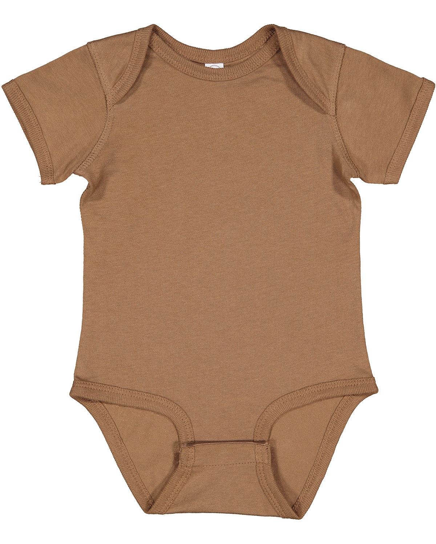 Rabbit Skins Infant Fine Jersey Bodysuit COYOTE BROWN