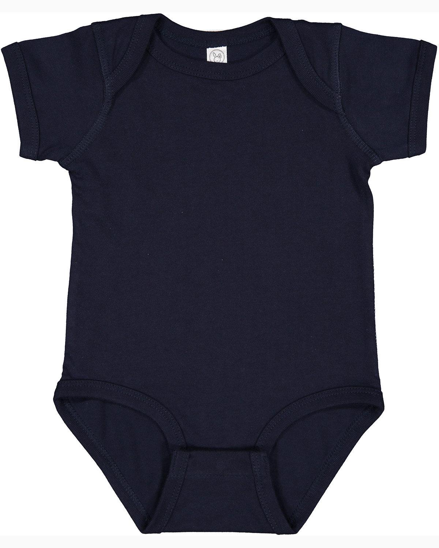 Rabbit Skins Infant Fine Jersey Bodysuit NAVY