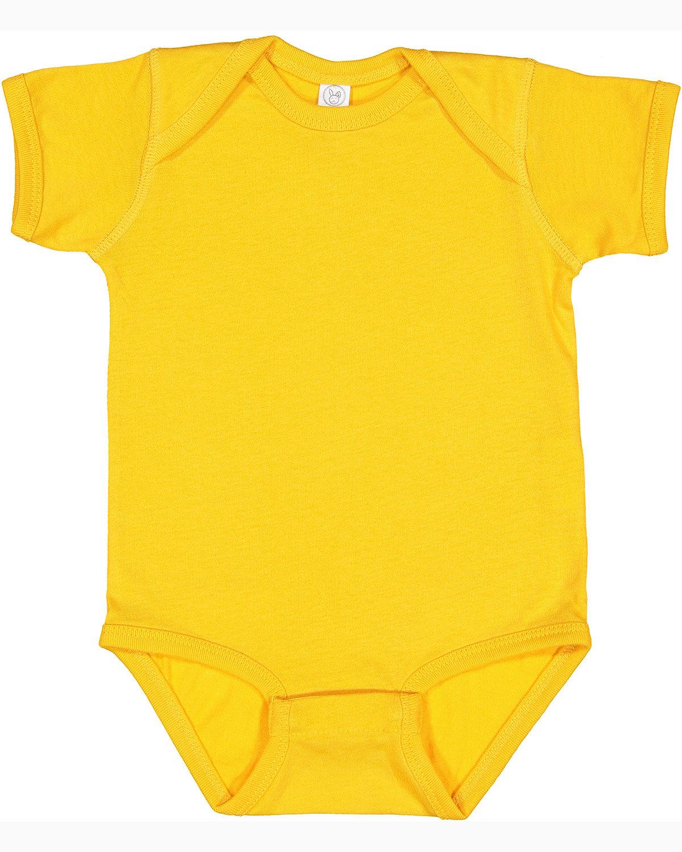 Rabbit Skins Infant Fine Jersey Bodysuit GOLD