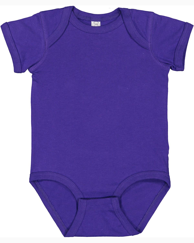 Rabbit Skins Infant Fine Jersey Bodysuit PURPLE