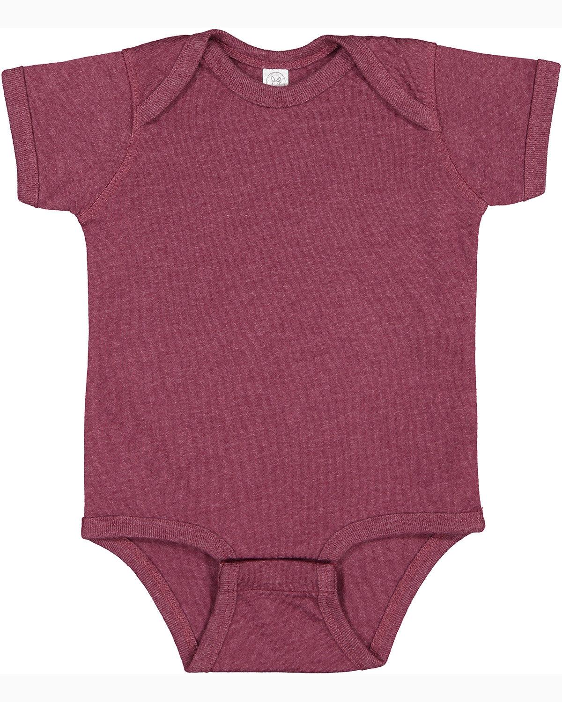 Rabbit Skins Infant Fine Jersey Bodysuit VINTAGE BURGUNDY