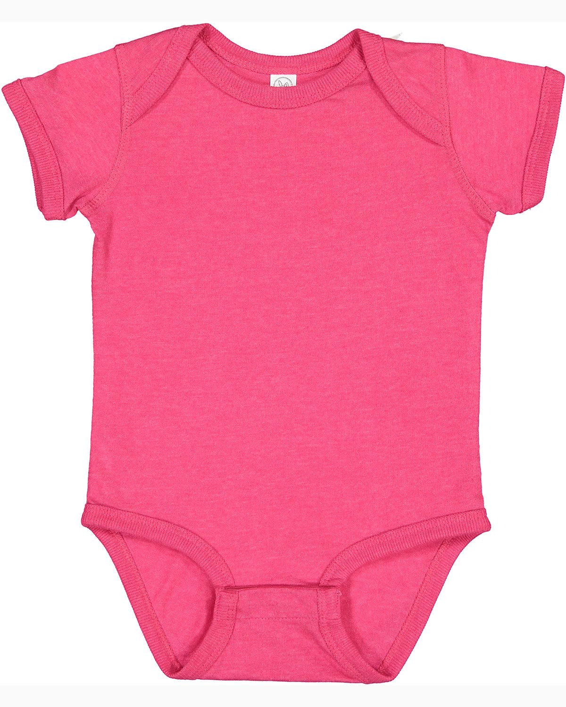 Rabbit Skins Infant Fine Jersey Bodysuit VINTAGE HOT PINK