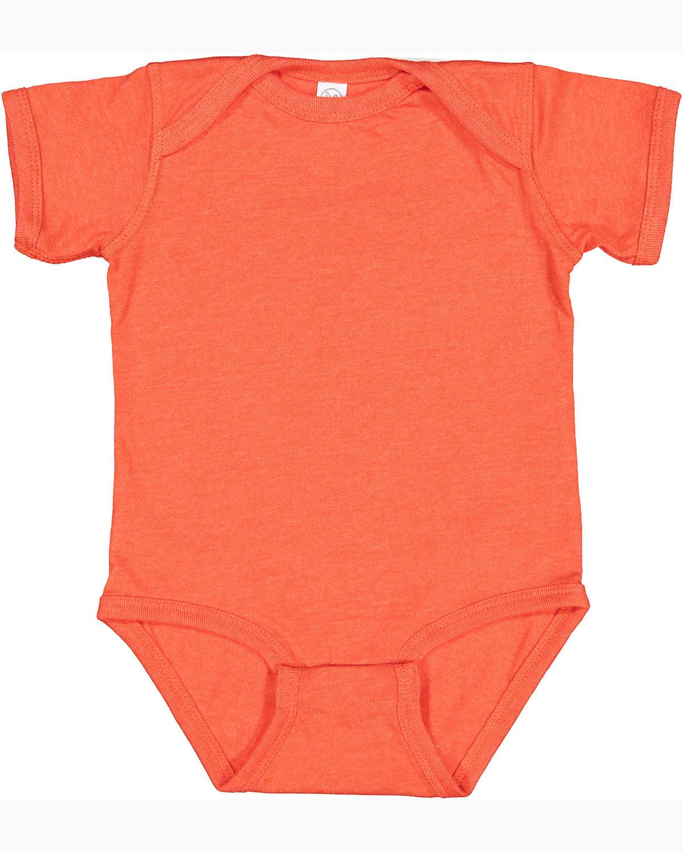 Rabbit Skins Infant Fine Jersey Bodysuit VINTAGE ORANGE