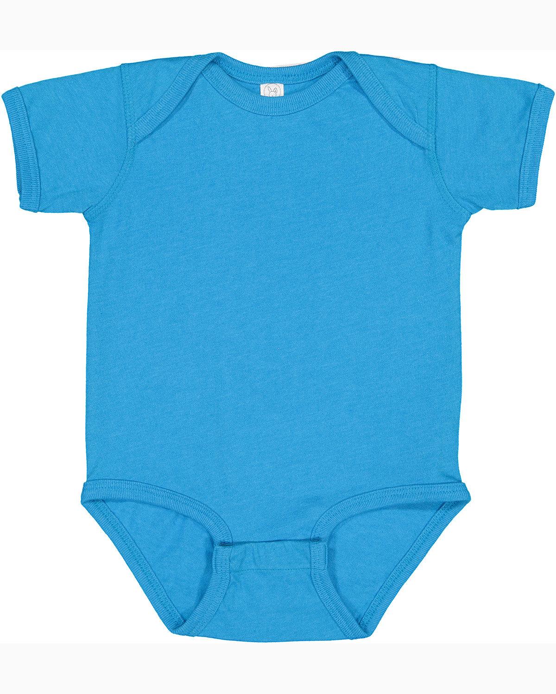 Rabbit Skins Infant Fine Jersey Bodysuit VINTAGE TURQUOIS