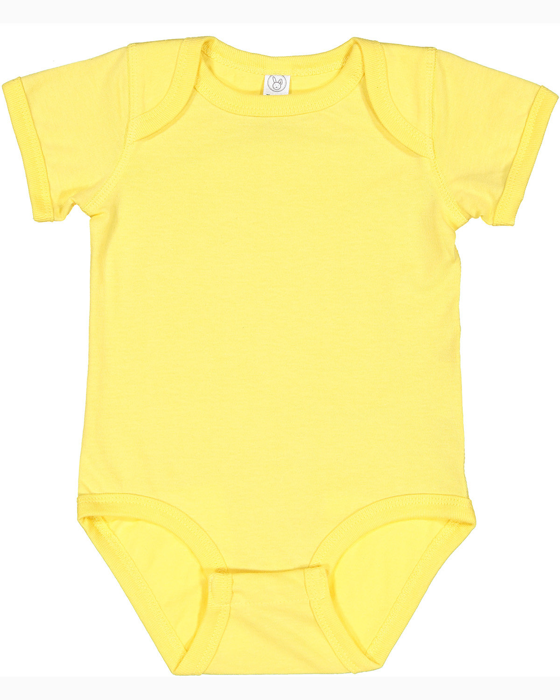Rabbit Skins Infant Fine Jersey Bodysuit BUTTER
