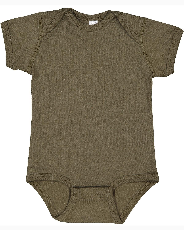Rabbit Skins Infant Fine Jersey Bodysuit MILITARY GREEN