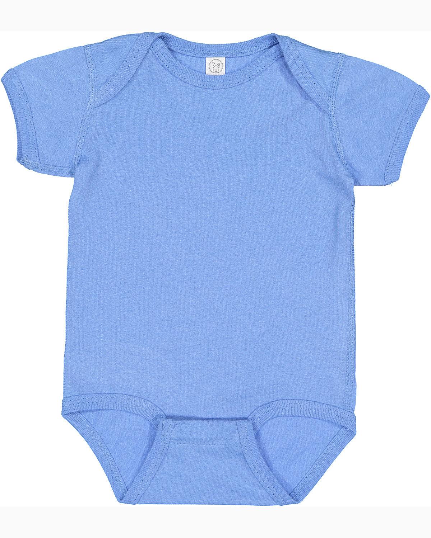 Rabbit Skins Infant Fine Jersey Bodysuit CAROLINA BLUE