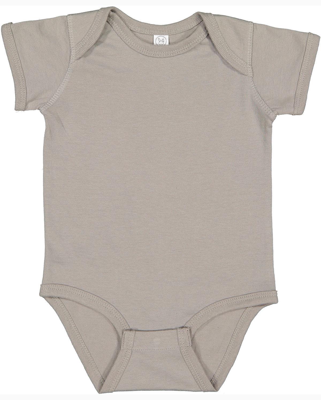 Rabbit Skins Infant Fine Jersey Bodysuit TITANIUM