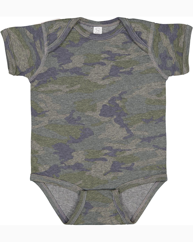 Rabbit Skins Infant Fine Jersey Bodysuit VINTAGE CAMO