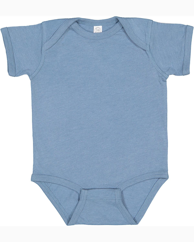 Rabbit Skins Infant Fine Jersey Bodysuit VINTAGE INDIGO